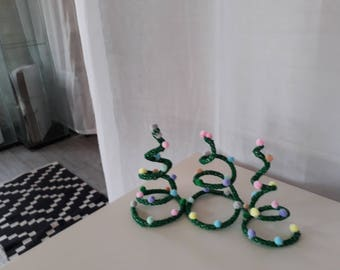 Christmas tree balls pom poms