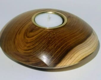 Laburnum tea light holder