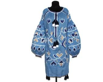 Vyshyvanka Dress Boho Ukrainian embroidery Ukrainian Dresses Custom Boho Dress Fashion Ukrainian Vishivanka Clothing gift Bohemian Dress