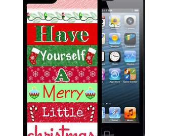 Holiday Rubber Case For iPhone X, 8, 8 plus, 7, 7 plus, 6s, 6s plus, 5, 5s, 5c, SE - Merry Little Christmas