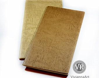 Midori Traveler's Notebook Inserts. Blanc or Lined. Word Explorer Notebook's Refills-Passport/Regular/Large.