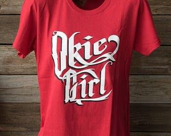 Okie Girl -Red Ladies Tshirt