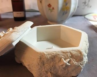 mermaid covered box (Plaster Air freshner)
