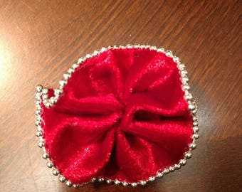 Red Velvet collar bow