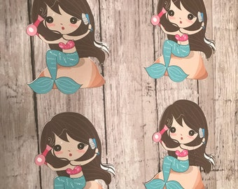 Mermaid on Rocks Die Cuts