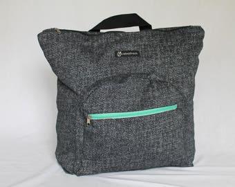 Rucksack Backpack Grey patterned