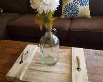 Decorative Wood Serving Tray