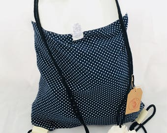 Backpack Dots Blue