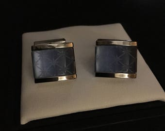Kenneth Cole Light Blue Star Burst Cufflinks