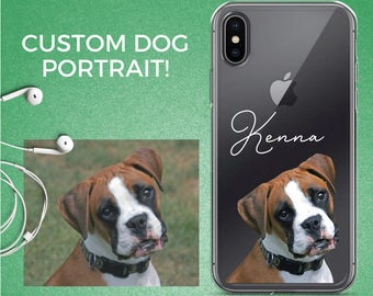 Dog owner gift, pug iphone case, personalized dog iphone case, custom iphone case iphone 8 case, pet iphone case, pug iphone 8, pug iphone 6