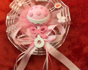 Pink/Blue Baby Shower Guest Pin