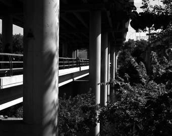 Black and White Photo of a Bridge over the Colorado River III  //  Photography in Austin, Texas