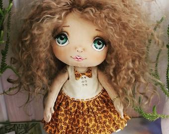doll fabric  doll decor doll art doll in cloth vintage doll craft textile doll tilda doll interior doll baby handmade doll birthday