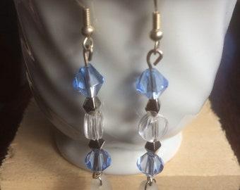 Sea glass drop earrings