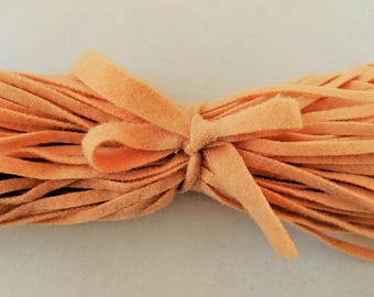 """Dorr Mill Wool Strips Peach 441-2 100 Strips 18"""" Long for Rug Hooking from Fine Quality Wool Hand Cut on Number 6 Blade"""