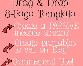 8-page  Ebook/brochure/zine PowerPoint Template   Digital Download   Create printables to sell! / Bonus Pages to Start ASAP!