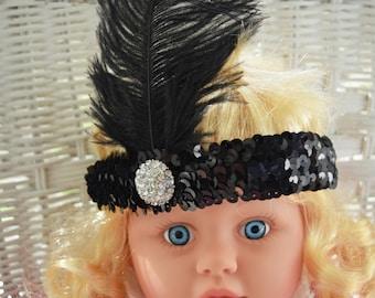 Headbands/hair accessories/head jewelry /feather head piece.