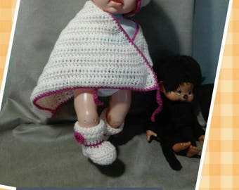 Set 0-3 months baby yarn, crochet, baby