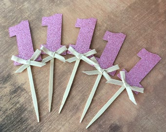 First Birthday - Princess Theme - One Cupcake topper - One Cake topper
