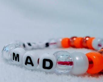 Stark raving mad unique Kandi bracelet