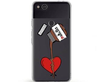 Nutella Art Samsung s7 Case Chocolate Print Galaxy s8 Case Heart Broken Pixel xl Case Nutella Gifts Samsung A5 Case LG g6 Case Samsung A3 2