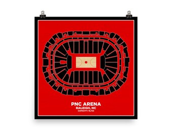 PNC Arena Wall Art - NC State University Wolfpack Basketball