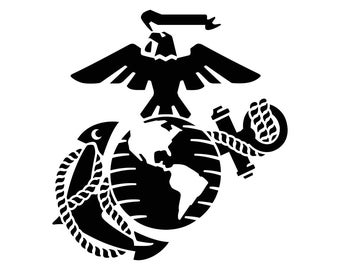 Eagle Globe Anchor USMC Marine Corps Graphics SVG dxf eps png cdr ai pdf Vector art Clipart instant download Digital Cut Print files
