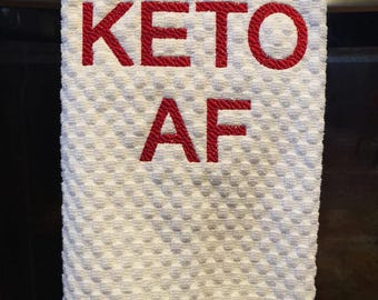 Christmas Keto AF Kitchen Towel | Keto Towel | Keto Diet | Keto Christmas Gift | Pairs Perfectly With A Keto AF Shirt