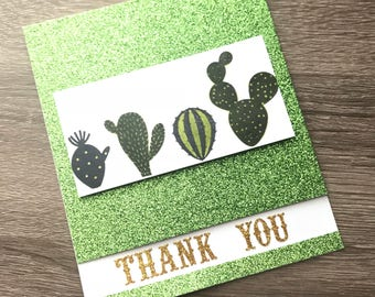 Cute Cacti Thank You Card