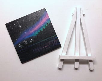 4x4 Mini Galaxy Canvas with Easel