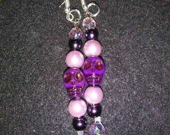 Purple Skull Earrings #29 Plum Jealous V2
