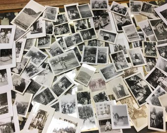Large collection snapshot photographs