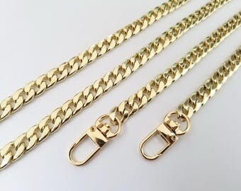 gold chain purse strap bag handbag strap handles gold bag handbag purse findings Replacement Chain Strap finished chain width 9 mm 1pcs