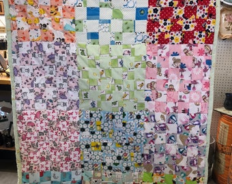 4 patch Crib Quilt