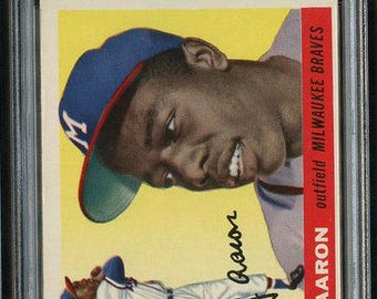 1955 Topps Hank Aaron #47 HOF PSA 5 - 2nd Year