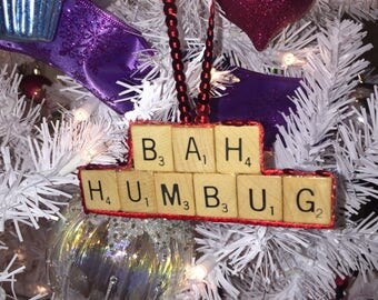 Cute Bah Humbug Christmas Ornament