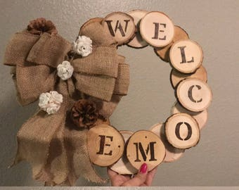 Wooden Rustic Wreath