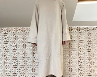 vintage tunic oversized cotton pique