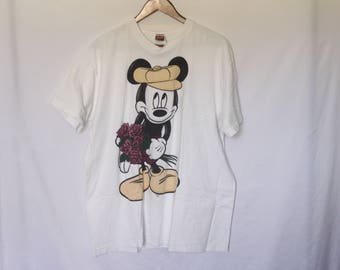 Vintage Micky Mouse Disney T Shirt Made In America