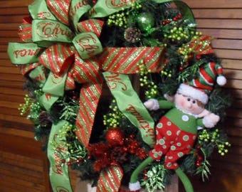 Santa's Elf Christmas Wreath