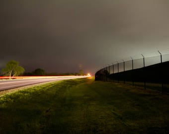Canvas, Wall Art, Light Trails, Canvas Print, Dark, Eerie, landscape Photography