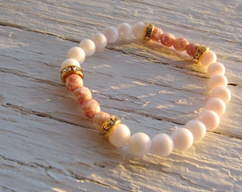 Pink Shades with Gold Detail Bracelet