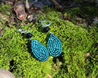 Embroidered earrings