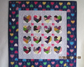 Crazy Patch Hearts