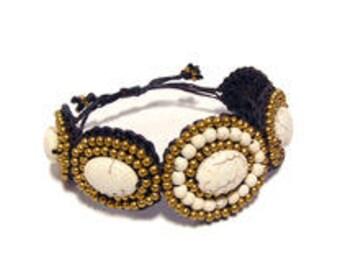 Boho Stone Beaded Bracelet