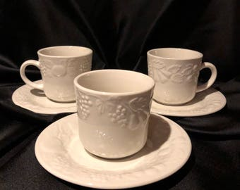 Fruit by Gibson tea cup and saucer
