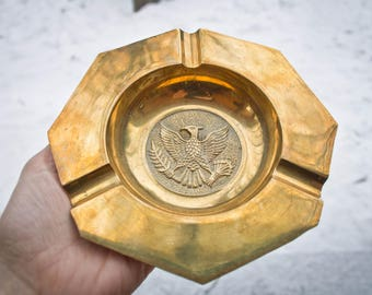 Brass Eagle Ashtray - Catch all - Coin tray