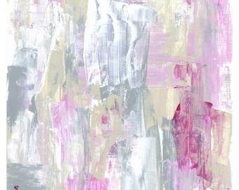 Abstract Art Print: Pink Vanilla