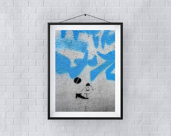 Print, Wall Art, 'The Kick', Giclée Print, Architecture, Street, New, Abstract