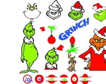 Grinch svg - Grinch svg files - Grinch clipart- Grinch digital clip art- files download svg, png, eps, jpg,Christmas